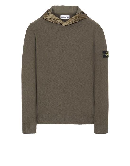 STONE ISLAND 545B0 Sweater Man Olive Green