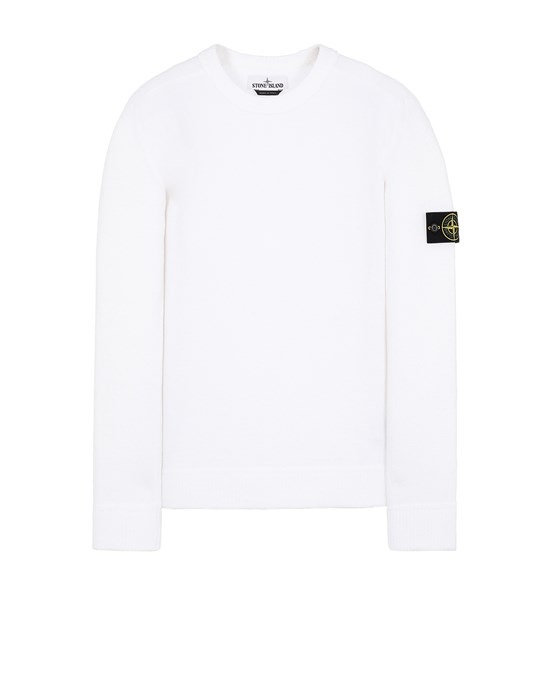 STONE ISLAND 550D2 Sweater Man White