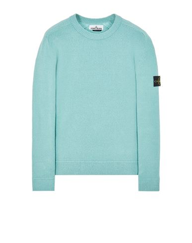 STONE ISLAND 550D2 Sweater Man Aqua USD 296