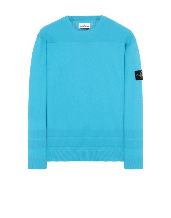 STONE ISLAND 503B4 Sweater Man Turquoise