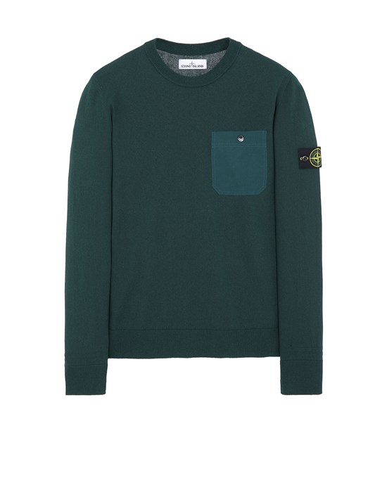 STONE ISLAND 571B9 Sweater Man Dark Teal Green