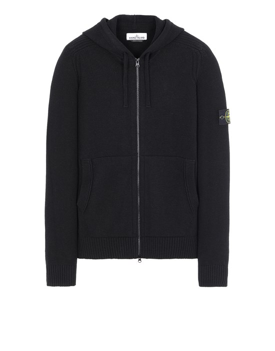 STONE ISLAND 501A3 Sweater Man Black
