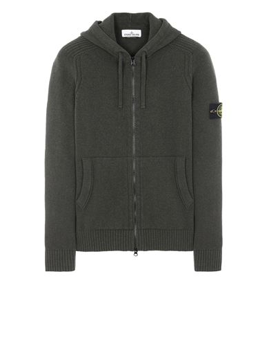 STONE ISLAND 501A3 Sweater Man Musk Green EUR 385