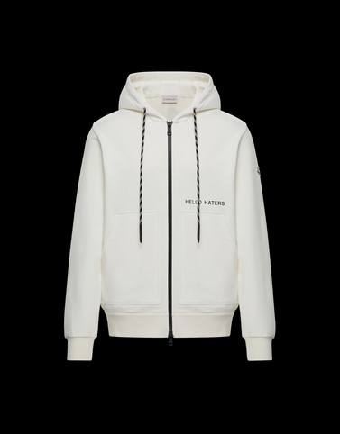 HOODED CARDIGAN White Category HOODED SWEATSHIRTS Man