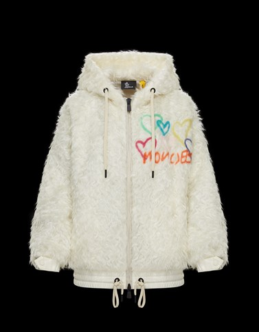 HOODED CARDIGAN White 3 Moncler Grenoble Woman