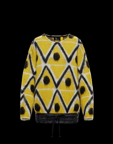 CREWNECK Yellow Knitwear Woman