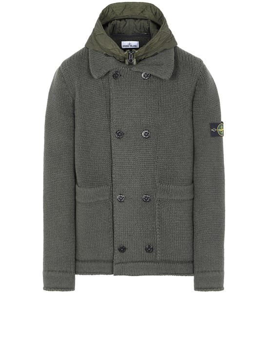 STONE ISLAND 557B8 Sweater Man Musk Green