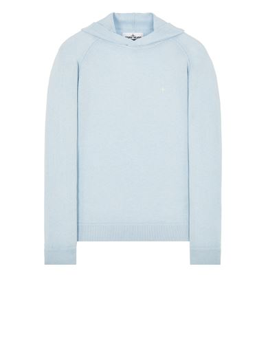STONE ISLAND 546D3 Sweater Man Sky Blue EUR 265