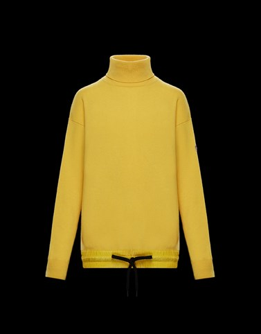 HIGH NECK Yellow Grenoble Knitwear Woman