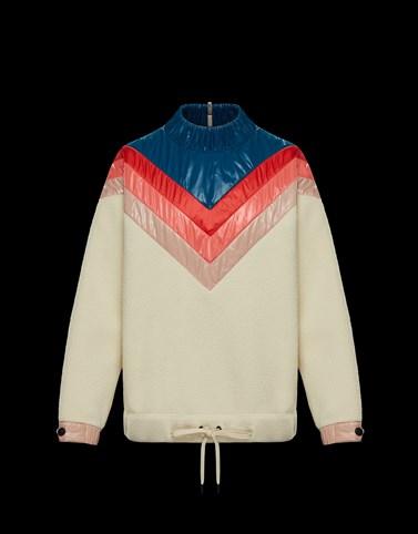 CREWNECK SWEATSHIRT Ivory Sweatshirts & midlayers Woman