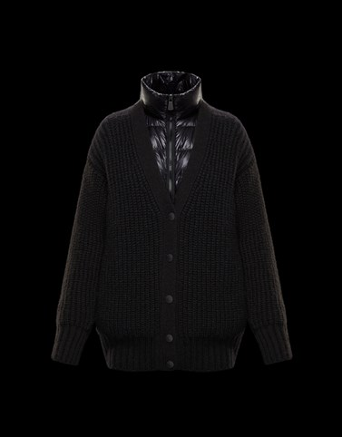 PADDED CARDIGAN Black Grenoble Knitwear Woman