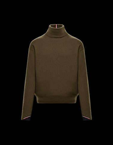 HIGH NECK Dark green Grenoble Knitwear Man