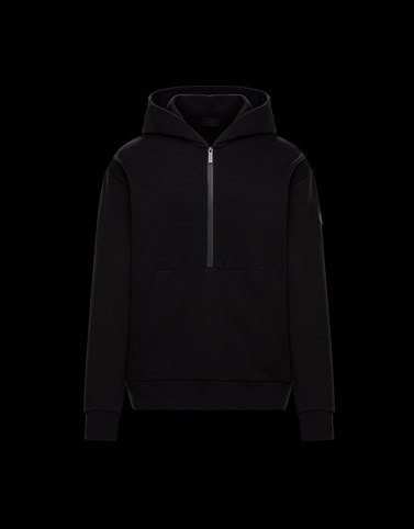 HOODED SWEATSHIRT Black Category HOODED SWEATSHIRTS Man