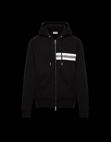 HOODED SWEATSHIRT Black Sweatshirts Man