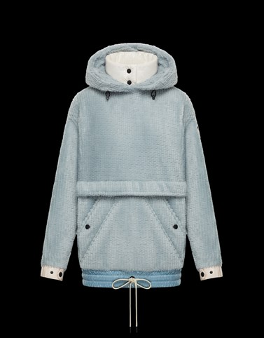HOODED JUMPER Sky blue Grenoble Knitwear Woman