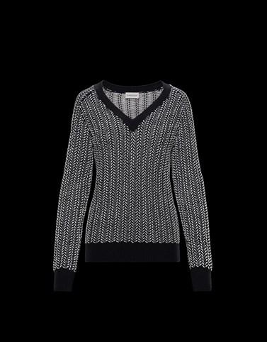 V-NECK SHIRT Black Knitwear Woman