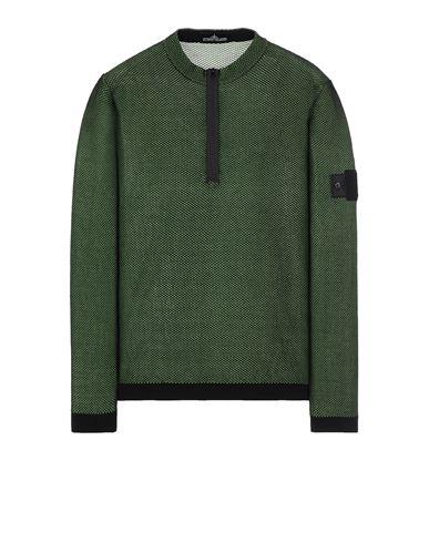 STONE ISLAND SHADOW PROJECT 507A3 LIGHT MESH KNIT HALF ZIP Sweater Man Black USD 296