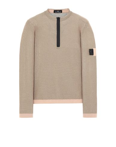 STONE ISLAND SHADOW PROJECT 507A3 LIGHT MESH KNIT HALF ZIP Sweater Man Pastel pink USD 471