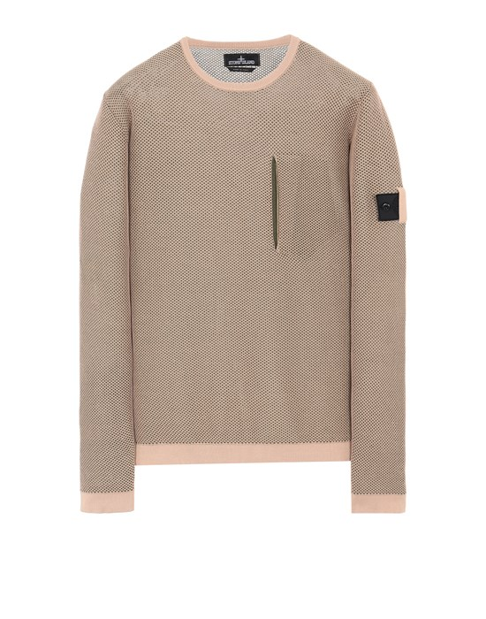 STONE ISLAND SHADOW PROJECT 505A3 LIGHT MESH KNIT CREWNECK Sweater Man Pastel pink