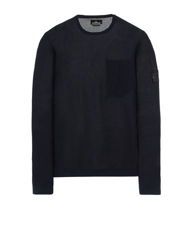 STONE ISLAND SHADOW PROJECT 505A3 LIGHT MESH KNIT CREWNECK Sweater Man Ink Blue EUR 279