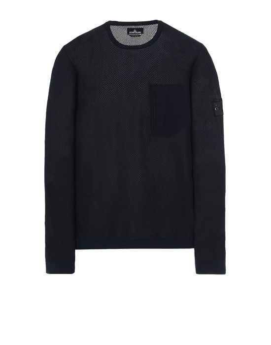 STONE ISLAND SHADOW PROJECT 505A3 LIGHT MESH KNIT CREWNECK 니트 남성 잉크 블루