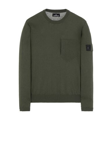 STONE ISLAND SHADOW PROJECT 506A4 CATCH POCKET CREWNECK Sweater Man Olive Green EUR 399