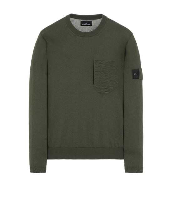 STONE ISLAND SHADOW PROJECT 506A4 CATCH POCKET CREWNECK Tricot Homme Vert olive