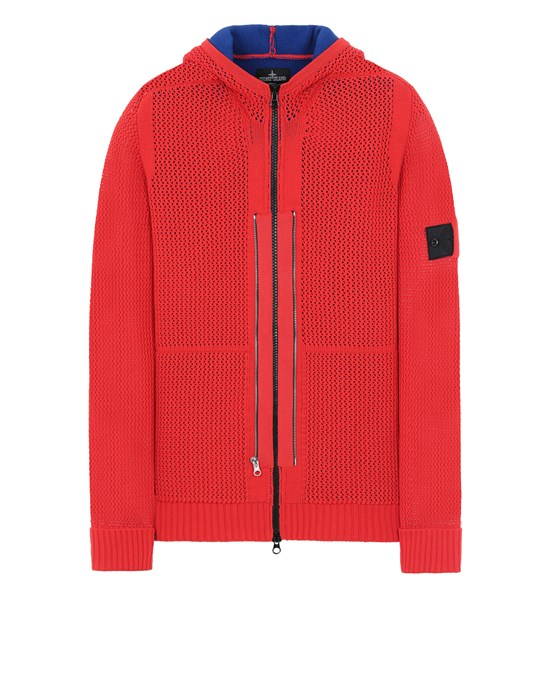 STONE ISLAND SHADOW PROJECT 510A1 TWIN ZIP HOODED KNIT JACKET Sweater Man Red