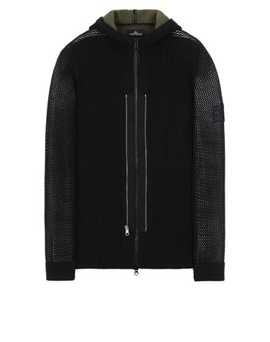 STONE ISLAND SHADOW PROJECT 510A1 TWIN ZIP HOODED KNIT JACKET Sweater Man Black USD 775