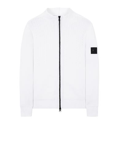 STONE ISLAND SHADOW PROJECT 511A2 HEAVY MESH TRACK KNIT JACKET Jersey Hombre Blanco natural EUR 730