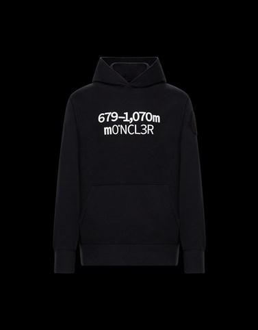HOODED JUMPER Black Sweatshirts Man