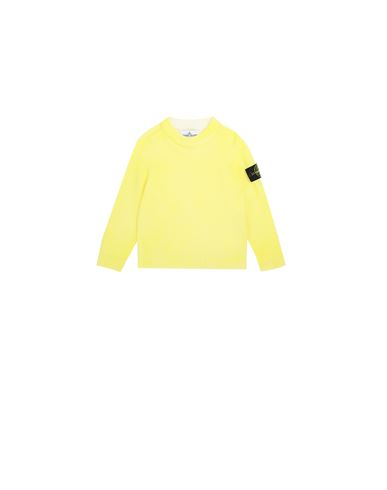 STONE ISLAND BABY 513A3 AIRBRUSHED HAND TREATMENT Tricot Homme Citron EUR 165