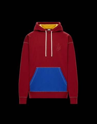 HOODED JUMPER Red Knitwear Woman