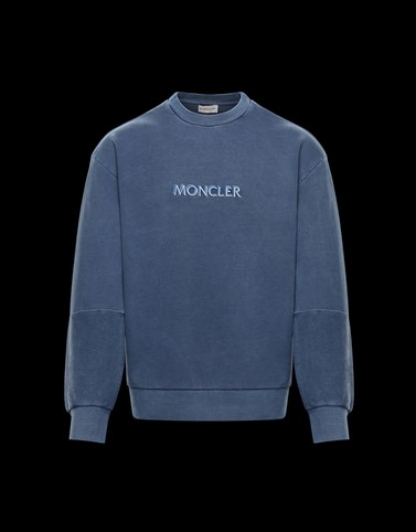 CREWNECK SWEATSHIRT Blue Category Sweatshirts Man