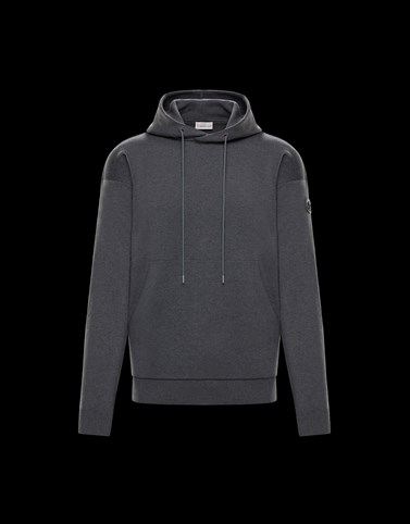 CREWNECK Dark grey Category HOODED SWEATSHIRTS Man