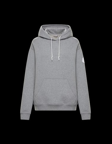 HOODED SWEATSHIRT Grey Knitwear Woman