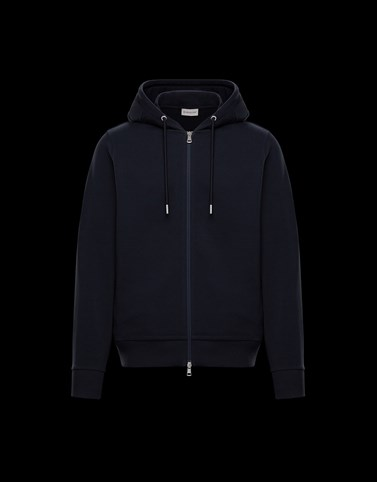 HOODED SWEATSHIRT Dark blue Category HOODED CARDIGANS Man