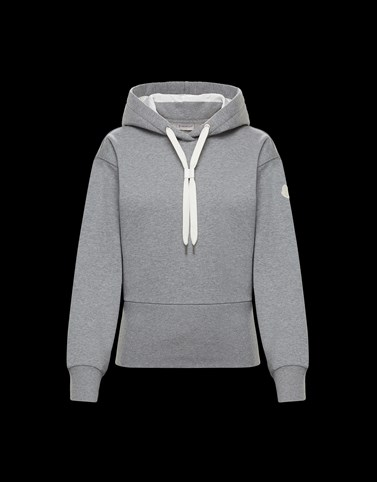 HOODED SWEATSHIRT Grey Category HOODED SWEATSHIRTS Woman