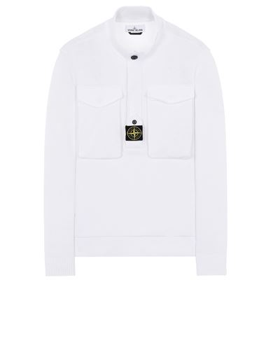 STONE ISLAND 542D4 Sweater Man White EUR 466