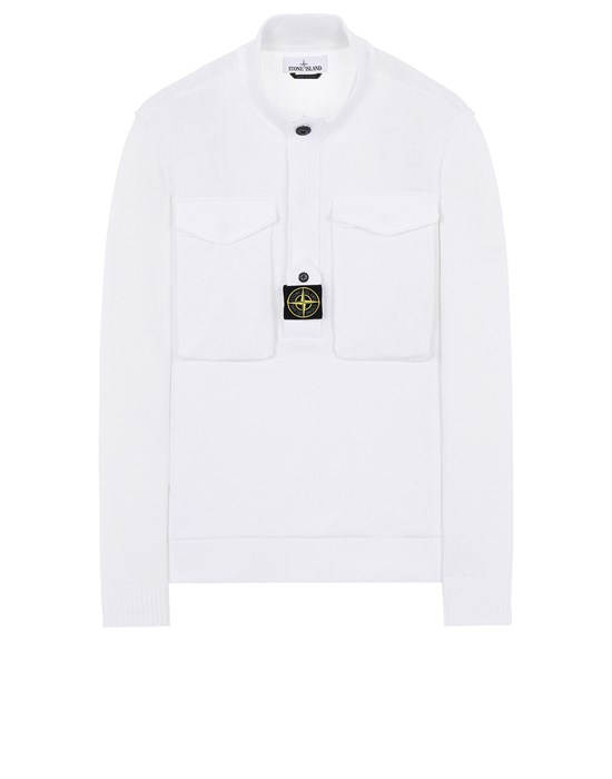 STONE ISLAND 542D4 Sweater Man White