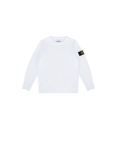 STONE ISLAND KIDS 512A5 Sweater Man White USD 245