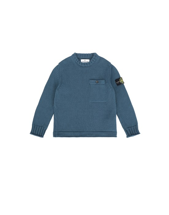 STONE ISLAND JUNIOR 510A5 Sweater Man Blue Grey