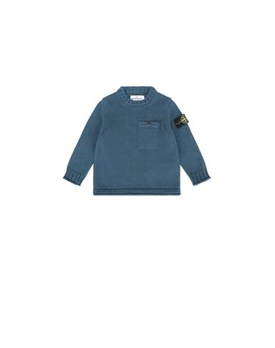 STONE ISLAND BABY 510A5 Sweater Man Blue Grey USD 219