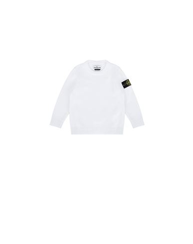 STONE ISLAND BABY 512A5 Sweater Man White USD 200