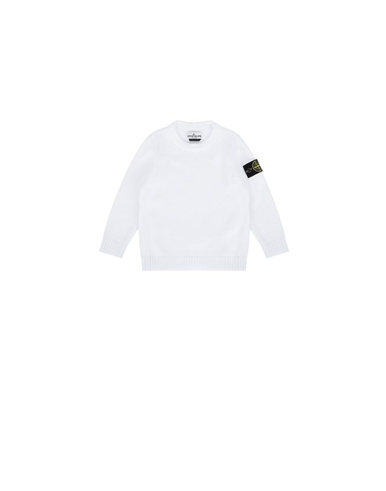 STONE ISLAND BABY 512A5 Sweater Man White