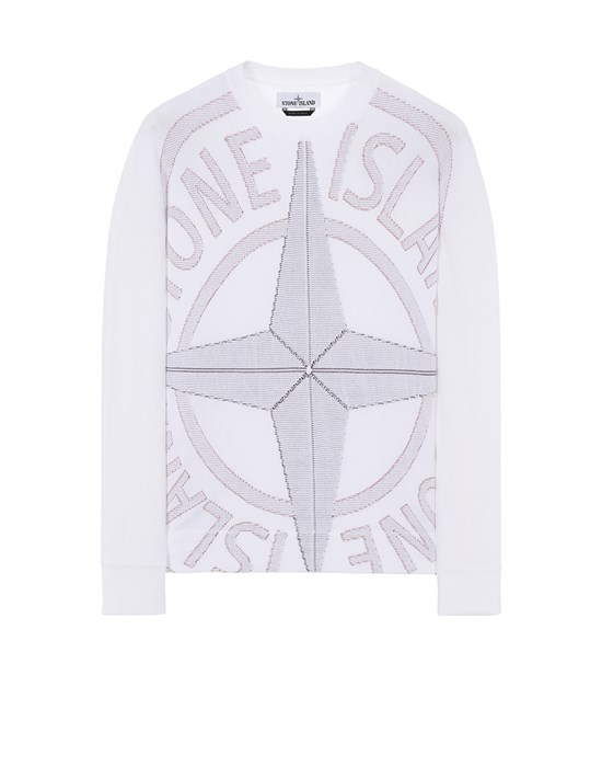 STONE ISLAND 514D1 Sweater Man White