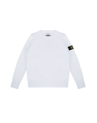 STONE ISLAND JUNIOR 512A5 Sweater Man White EUR 198