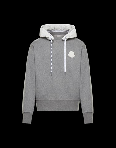 SWEATSHIRT Grey Category HOODED SWEATSHIRTS Man