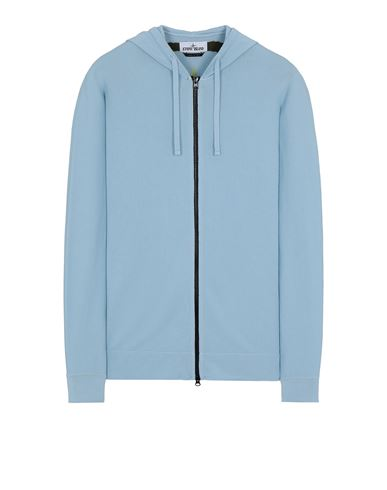 STONE ISLAND 535D1 Sweater Man Sky Blue EUR 569
