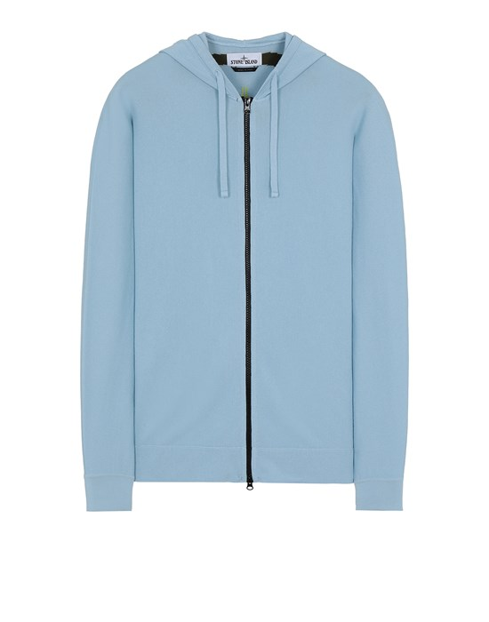 STONE ISLAND 535D1 Sweater Man Sky Blue